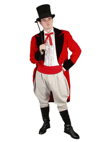 Ringmaster circus theme deluxe costume rental or purchase at Buffalo Breath Costumes in San Diego
