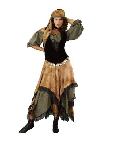 Gypsy Nude and Green Dress in Theatrical Costumes from BuffaloBreath at Buffalo Breath Costumes