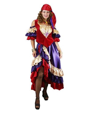 Multi Colored Gypsy in Theatrical Costumes from BuffaloBreath at Buffalo Breath Costumes