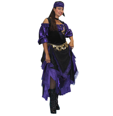 Purple and Black Gypsy in Theatrical Costumes from BuffaloBreath at Buffalo Breath Costumes