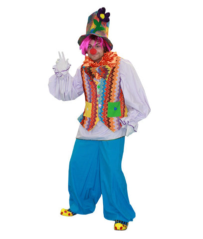 Rainbow Clown Boy in Theatrical Costumes from BuffaloBreath at Buffalo Breath Costumes