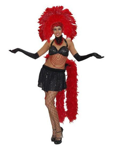 Showgirl (red) in Theatrical Costumes from BuffaloBreath at Buffalo Breath Costumes
