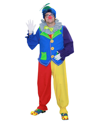 Clown- Multi Color in Theatrical Costumes from BuffaloBreath at Buffalo Breath Costumes