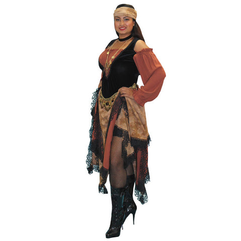 Chestnut and Black Gypsy in Theatrical Costumes from BuffaloBreath at Buffalo Breath Costumes