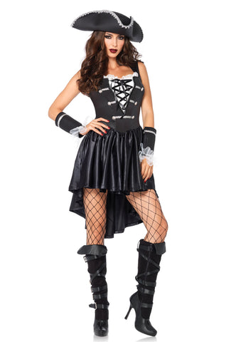 Captain Black Heart pirate costume by Leg Avenue 85210 at Buffalo Breath Costumes