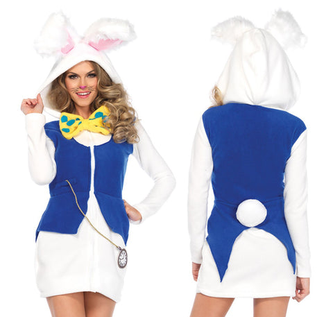 Cozy White Rabbit costume by Leg Avenue 85591 at Buffalo Breath Costumes