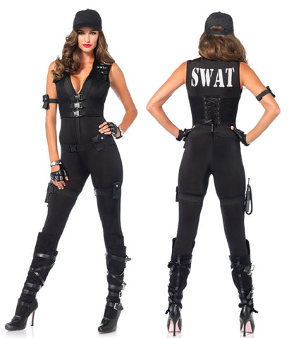 Deluxe SWAT Commander sexy cop costume by Leg Avenue at Buffalo Breath Costumes