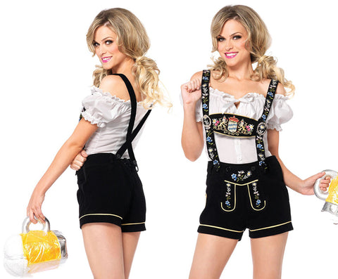 Edelweiss Lederhosen Oktoberfest costume by Leg Avenue 85221 at Buffalo Breath Costumes