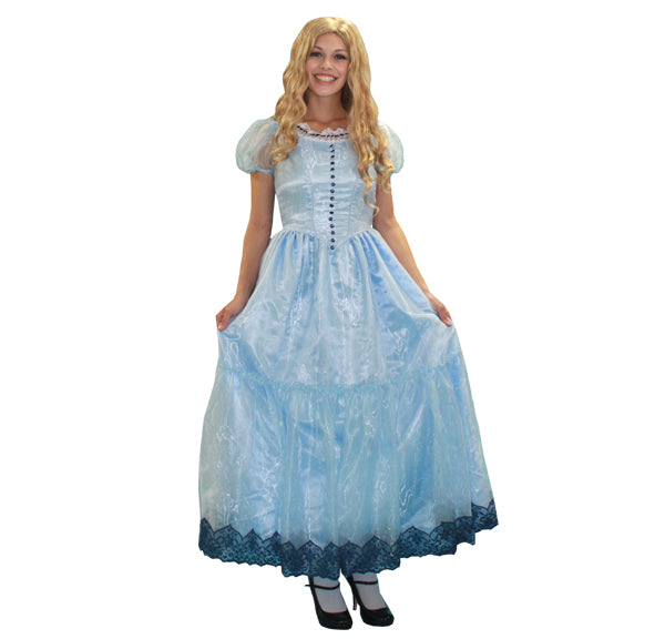 Alice in Wonderland deluxe costume rental or purchase at Buffalo Breath Costumes in San Diego