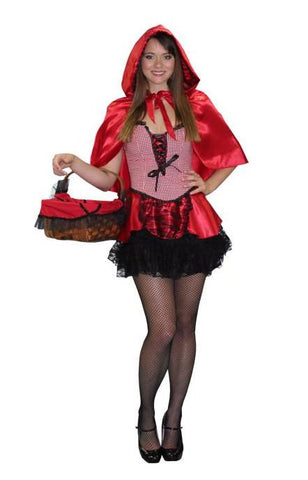 Little Red Riding Hood Mini Dress in Theatrical Costumes from BuffaloBreath at Buffalo Breath Costumes