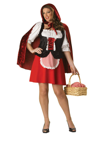Red Riding Hood deluxe plus size costume rental or purchase at Buffalo Breath Costumes