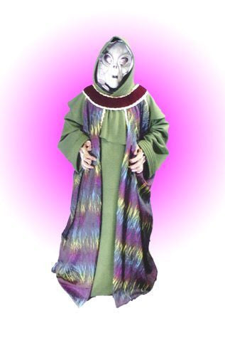 Alien 13 Green Robe in Theatrical Costumes from BuffaloBreath at Buffalo Breath Costumes