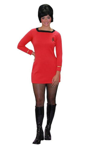 Star Trek Uhura Red Dress costume rental at Buffalo Breath Costumes in San Diego