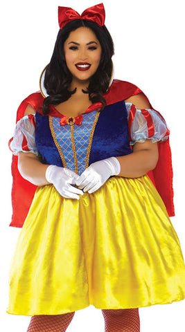 Fairytale Snow White plus size costume by Leg Avenue 86765X at Buffalo Breath Costumes
