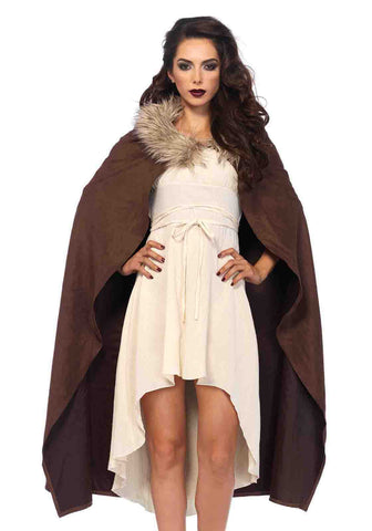 Faux Fur Trimmed Warrior Cape by Leg Avenue 2160