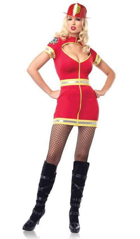 Flirty Firefighter costume by Leg Avenue 83522 at Buffalo Breath Costumes