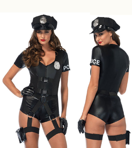 Flirty Five-O sexy cop costume by Leg Avenue 85555 at Buffalo Breath Costumes in San Diego