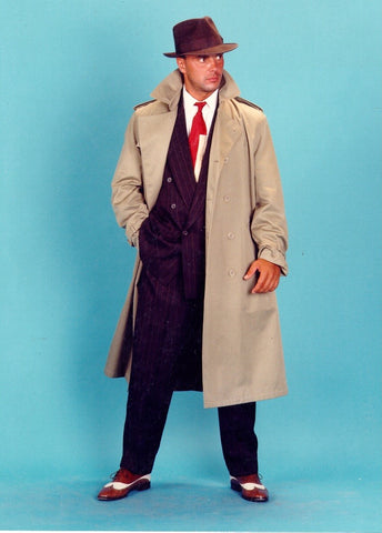 Private Eye (Trench Coat) deluxe 1940's costume rental or purchase at Buffalo Breath Costumes in San Diego