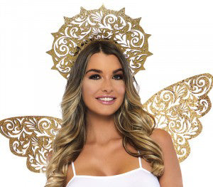 Golden Angel Kit wings and halo accessories by Leg Avenue A2823 at Buffalo Breath Costumes
