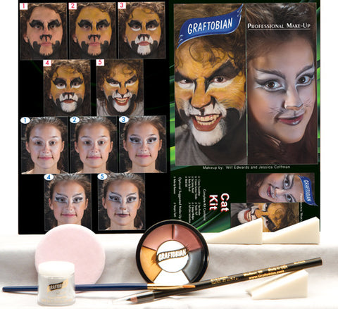 Cat Makeup Kit by Graftobian 88851 at Buffalo Breath Costumes