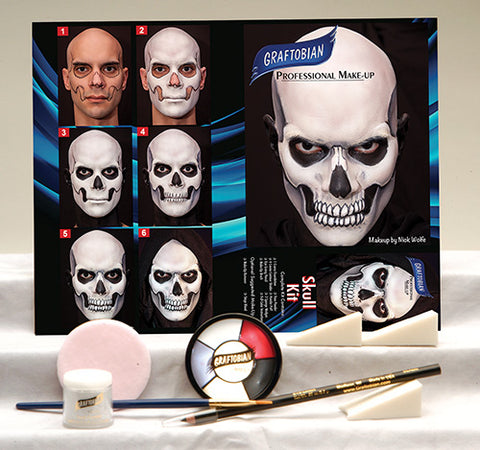 Skull Makeup Kit by Graftobian 88852 at Buffalo Breath Costumes