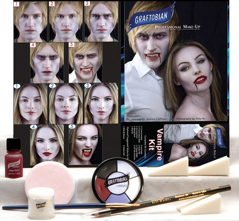 Vampire Make-Up Kit by Graftobian 88855 at Buffalo Breath Costumes