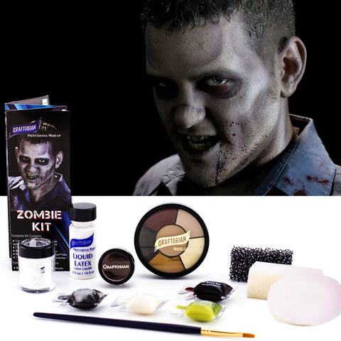Zombie Make-Up Kit by Graftobian 88865 at Buffalo Breath Costumes