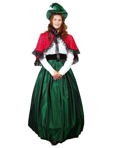 Dickens Female Green Skirt in Theatrical Costumes from BuffaloBreath at Buffalo Breath Costumes