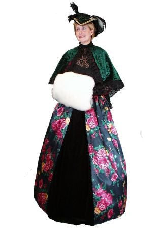 Dickens Female Floral Skirt in Theatrical Costumes from BuffaloBreath at Buffalo Breath Costumes