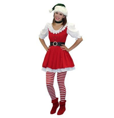 Elf (red) christmas costume rental from Buffalo Breath Costumes