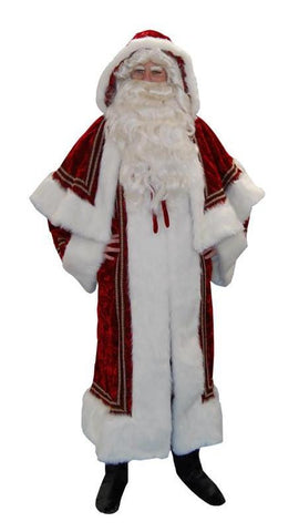 Kris Kringle deluxe Santa costume rental or purchase at Buffalo Breath Costumes in San Diego