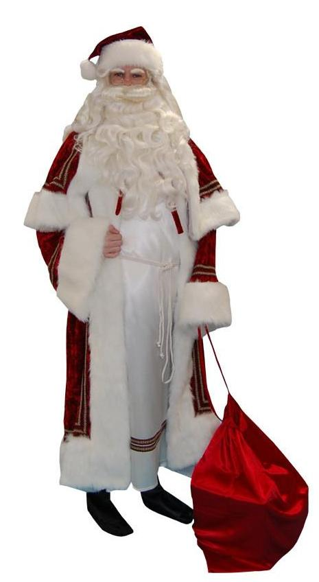 Kris Kringle with White Robe in Theatrical Costumes from BuffaloBreath at Buffalo Breath Costumes
