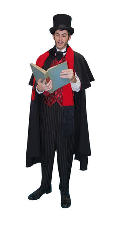 Dickens Caroler Male Black Cape in Theatrical Costumes from BuffaloBreath at Buffalo Breath Costumes