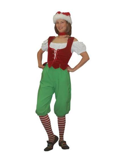 Holly Elf christmas costume rental or purchase at Buffalo Breath Costumes