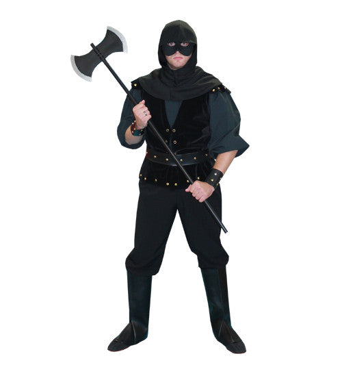 Executioner in Black deluxe costume rental or purchase at Buffalo Breath Costumes