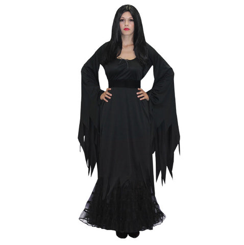 Morticia in Theatrical Costumes from BuffaloBreath at Buffalo Breath Costumes