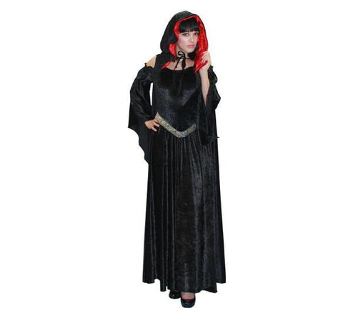 Gothic Vampire dress halloween costume rental or purchase at Buffalo Breath Costumes