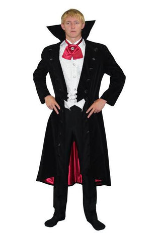 Gothic Vampire Suit with Collar in Theatrical Costumes from BuffaloBreath at Buffalo Breath Costumes