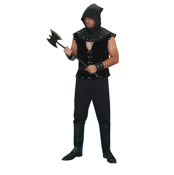 Executioner with Black Vest in Theatrical Costumes from BuffaloBreath at Buffalo Breath Costumes