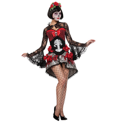 Mini Dress Catrina in Theatrical Costumes from BuffaloBreath at Buffalo Breath Costumes