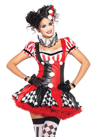 Harlequin Clown costume by Leg Avenue 83929 at Buffalo Breath Costumes