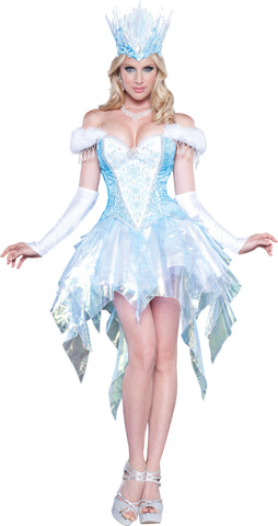 Sexy Snow Queen deluxe costume rental or purchase at Buffalo Breath Costumes