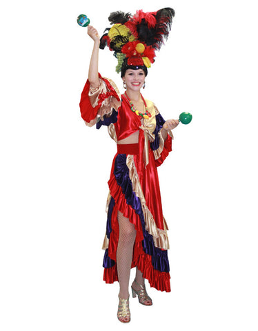 Deluxe Two Piece Carmen Miranda in Theatrical Costumes from BuffaloBreath at Buffalo Breath Costumes