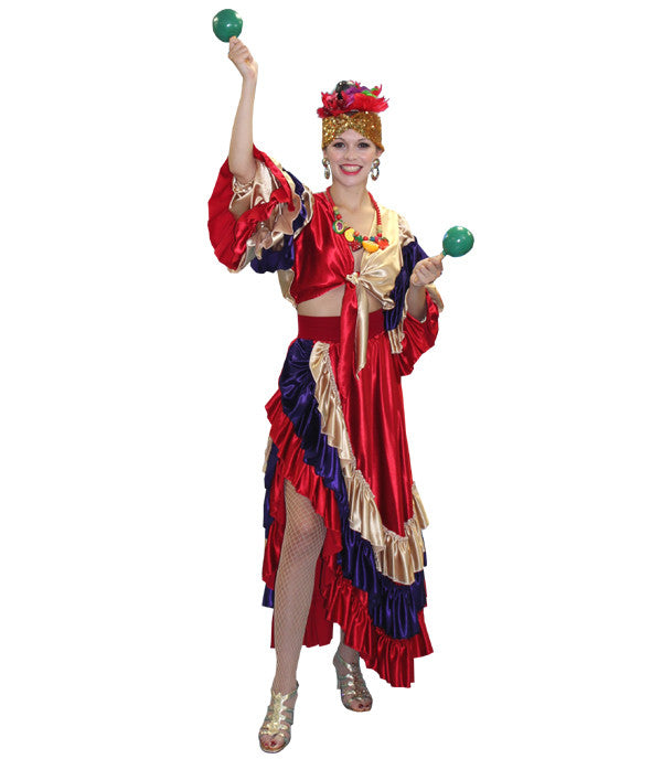 Two Piece Carmen Miranda in Theatrical Costumes from BuffaloBreath at Buffalo Breath Costumes