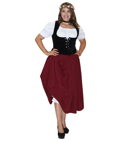 German Frau Burgundy in Theatrical Costumes from BuffaloBreath at Buffalo Breath Costumes