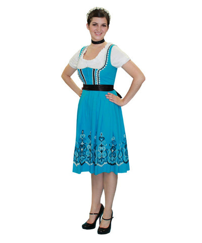German Woman Light Blue dress in Theatrical Costumes from BuffaloBreath at Buffalo Breath Costumes