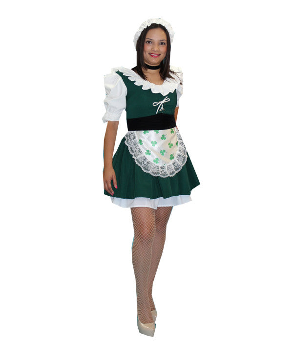 Irish Maiden Green Mini Dress in Theatrical Costumes from BuffaloBreath at Buffalo Breath Costumes