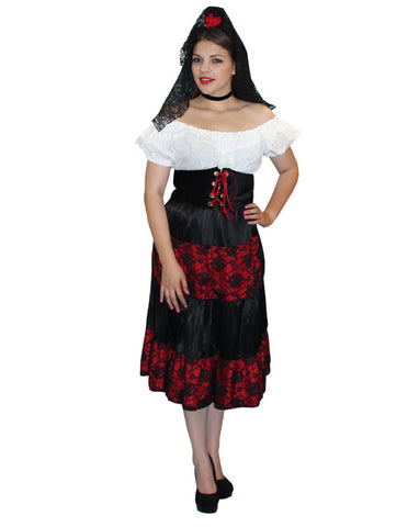 Senorita costume rental at Buffalo Breath Costumes in San Diego