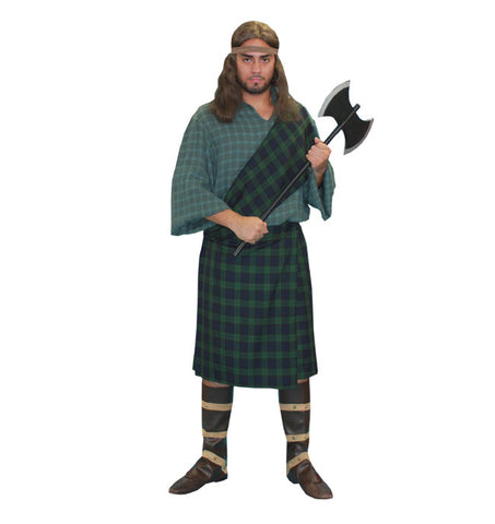 Dark Green Scottish Highlander in Theatrical Costumes from BuffaloBreath at Buffalo Breath Costumes