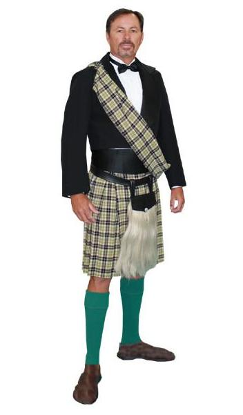 Scottish Kilt in Theatrical Costumes from BuffaloBreath at Buffalo Breath Costumes